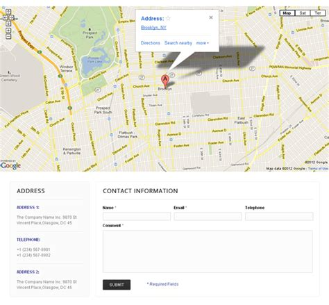 magento contact us map breaking groovy features added to templatemonster s