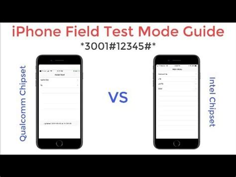 iphone mode iphone field test mode guide