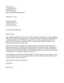 Cover Letter For Employment by International Employment Cover Letter Sle