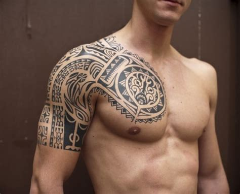 chest half sleeve tattoo designs back ideas tribal tattoos design shop