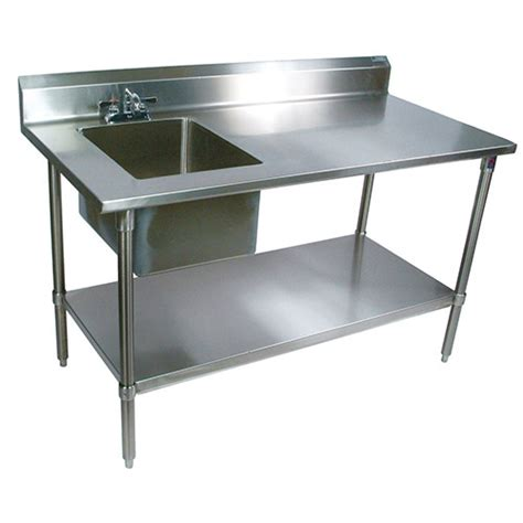boos ept6r5 3060ssk l stainless steel prep table with