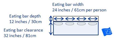 breakfast bar dimensions kitchen dimensions