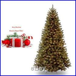 prelit artificial christmas tree 7 5 ft xmas holiday