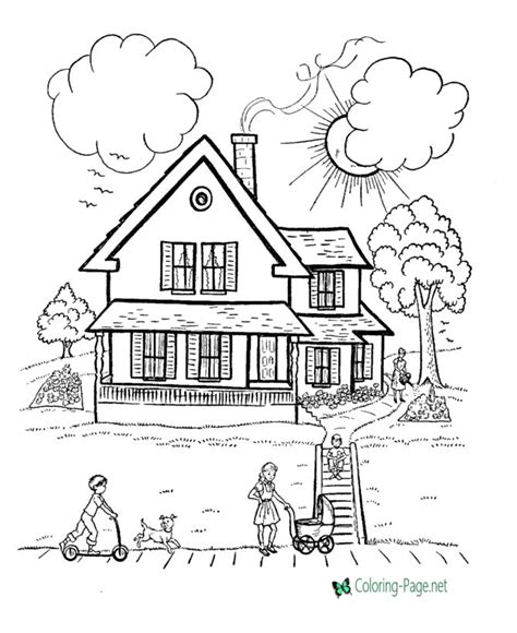 country house coloring pages house coloring pages country houses