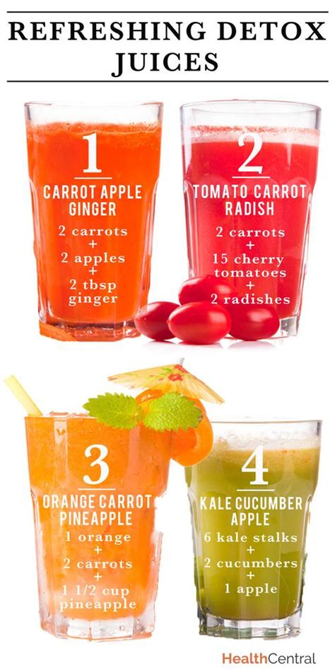 Detox Juice Recipes refreshing detox juice recipes infographic trying to