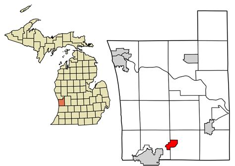 Ottawa County Records File Ottawa County Michigan Incorporated And Unincorporated Areas Zeeland Highlighted