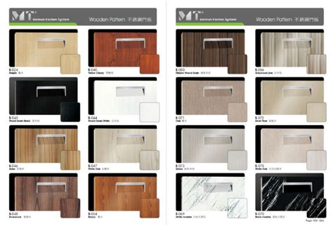 kitchen cabinets material modern wood kitchen cabinet yellow cherry steel door panel