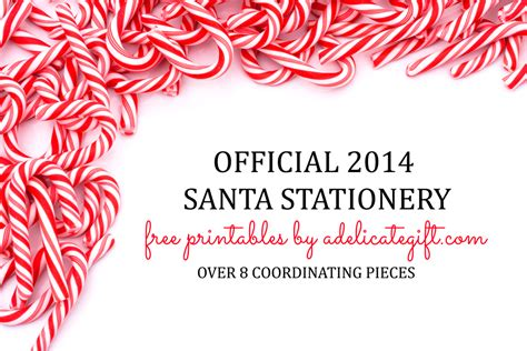 printable letter from santa 2014 official 2014 santa stationery free printables