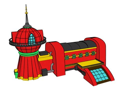 House Blueprints Free planet express cel shaded by hobojobo on deviantart