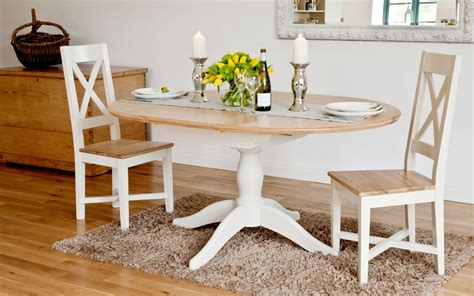 Painted Oak Dining Table And Chairs Ellis Painted Range Oval Extending Dining Table
