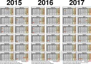 2016 Calendar Pdf Three Year Calendars For 2015 2016 2017 Uk For Pdf