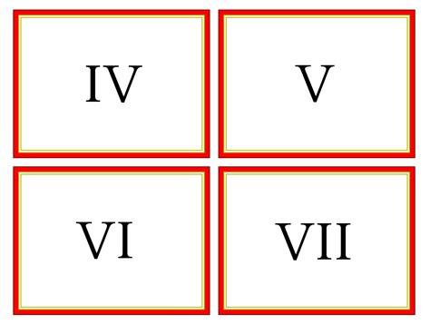 printable roman numbers printable roman numerals clipart best