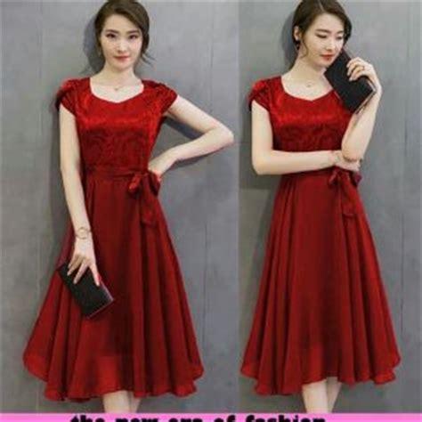Simple Mini Dress Lengan Panjang Merah Kuning Hitam Import Murah baju mini dress pendek bahu bolong cantik ala korea murah