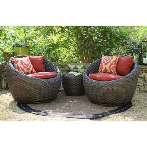 outdoor seating sets ae outdoor corona 3 all weather wicker patio