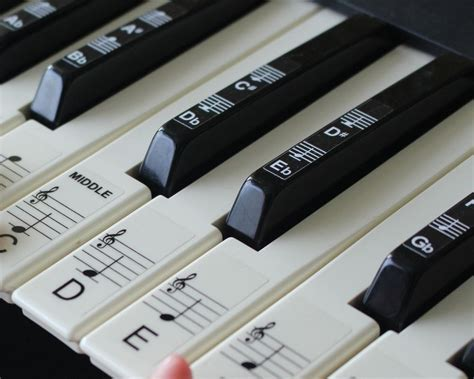 printable piano keyboard stickers keyboard or piano stickers up to 88 key set for the black