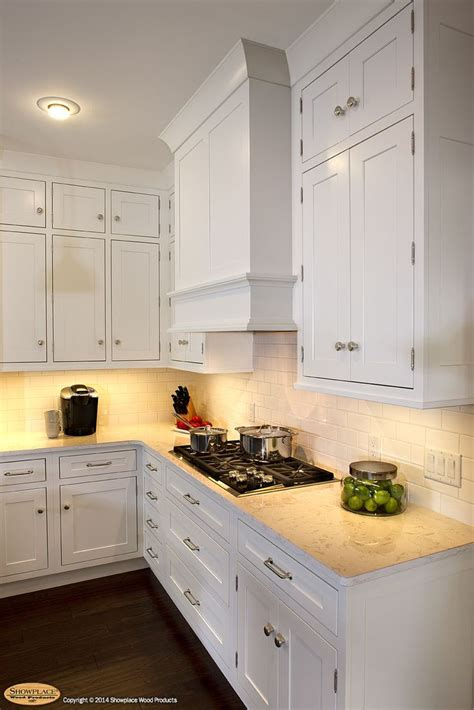 Paint Grade Kitchen Cabinets Door Style Pendleton 275 Inset Species Paint Grade Finish White This Showplace Range