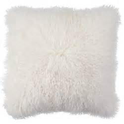 Bedroom Pillows White Mongolian Fur Pillow Chic Accents Amp Decor Z Gallerie