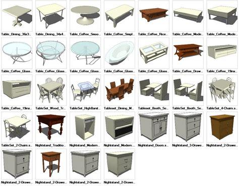 3d Cad Blocks Furniture Free by Sketchup Table 3d Models Cad Design Free Cad
