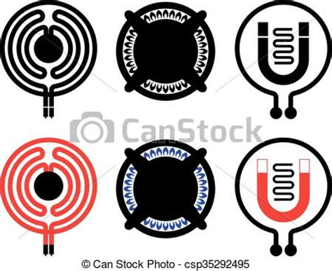 electric induction vector eps vectors of cooktop icons gas electric and induction cooktop icons csp35292495