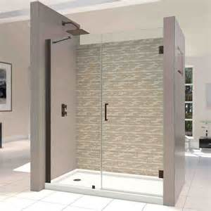 hinged frameless shower doors frameless hinged glass shower door decor ideasdecor ideas