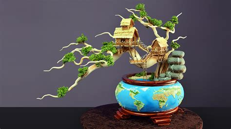 Home Cake Decorating Earth Day Bonsai Tree Cake Yeners Way