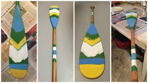 nautical painted oar diy montreal
