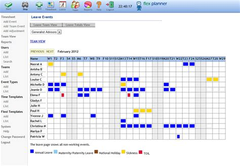 staff excel annual leave calendar template search