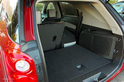 chevrolet equinox trunk space 2014 chevy equinox cargo space motoring rumpus