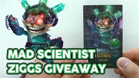 Lol Code Giveaway - closed league of legends code giveaway mad scientist ziggs youtube
