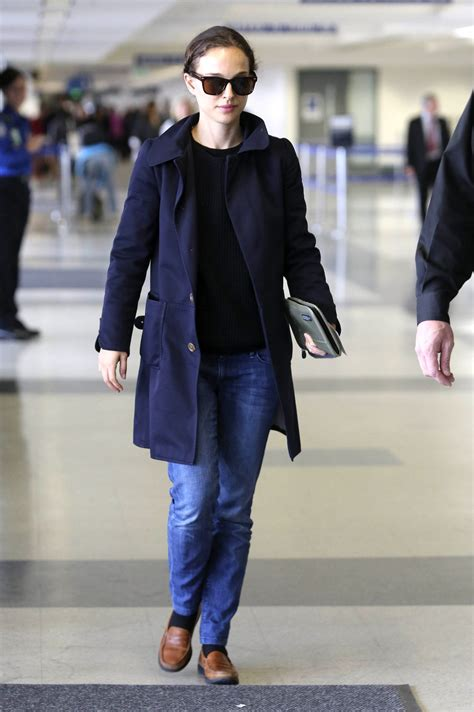 Natalie Portman Is Fashionable natalie portman style at lax airport november 2013