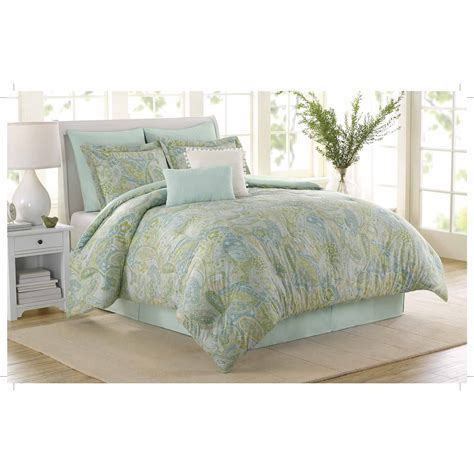 soho new york home sea glass 8 piece cotton comforter set