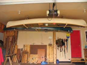 How To Hang Canoe In Garage 59 best images about garage on fishing pole