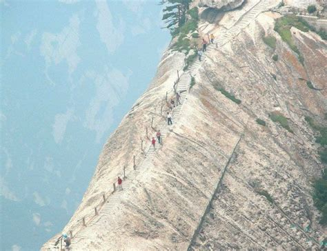 House On The Trail by The World S Most Dangerous Trail On Mr Huashan Leads To A