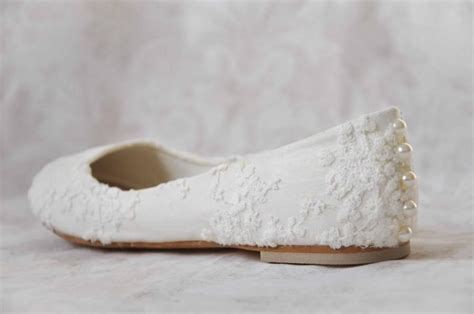 S Wedding Flats by Wedding Shoes Lace Wedding Shoes Flats Pearl Shoes Lace