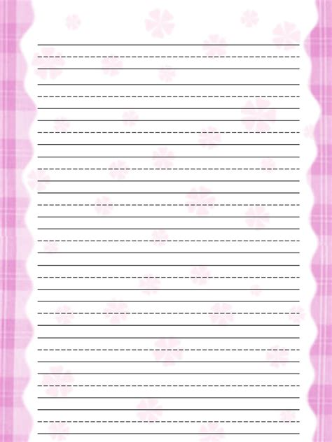 printable stationery for elementary students free printable stationery for kids free lined kids