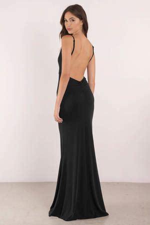 Lowback Dress black dress open back dress plunging neckline