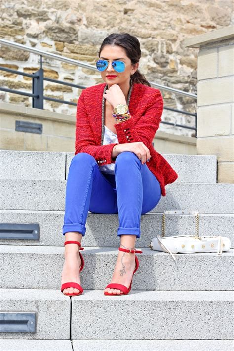 outfit: red and blue   FashionHippieLoves
