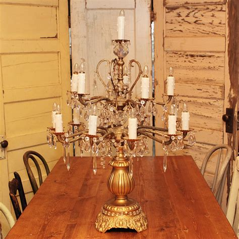table top chandelier large ornate gold table top chandelier forever vintage rentals