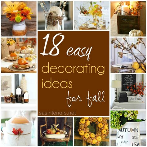 how to decorate your home for fall 18 easy decorating ideas for fall jenna burger