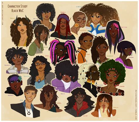 study black skin 01 by andrebdois on deviantart character study black woc by beedalee art on deviantart