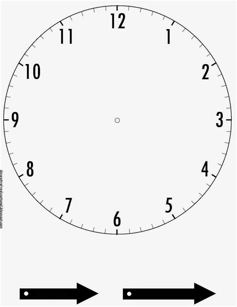 make your own clock template printable cliparts co