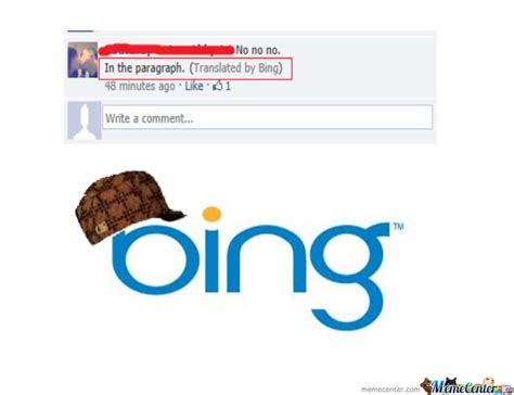 Bing Meme - scumbag bing translate by colieolieoleman meme center