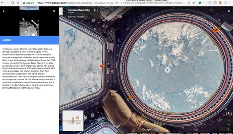 cupola module simak menelusuri stasiun luar angkasa dengan maps
