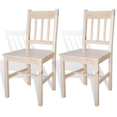 tavola e sedie articoli per sedia da tavola legno colore naturale 2 pz