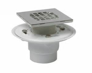 oatey 42237 pvc shower drain w square stainless steel