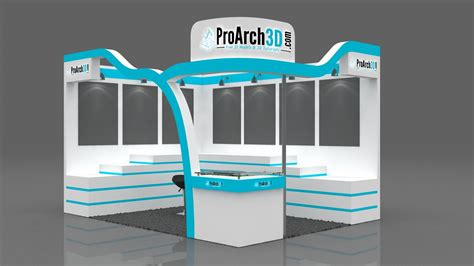 3d booth design tutorial exhibition stall 3d model 4x3 2 side open proarch3d com