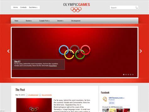 themes wordpress red olympicgames free wordpress theme