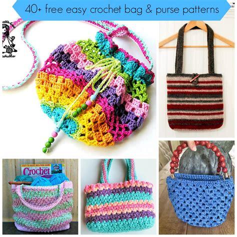 crochet bag pattern tutorial 40 free easy crochet bag purse patterns