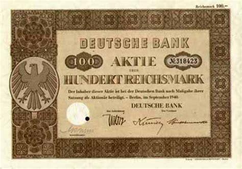 d bank aktie historische aktien und wertpapiere aus deutschland vor