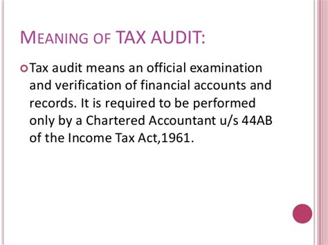 Income Tax Act 1961 Sections by Tax Audit Section 44ab Of Income Tax Act 1961